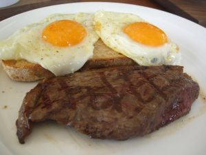 steak n egg breakfast at Darren's American Grill Garland TX