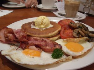 breakfast special bacon and eggs